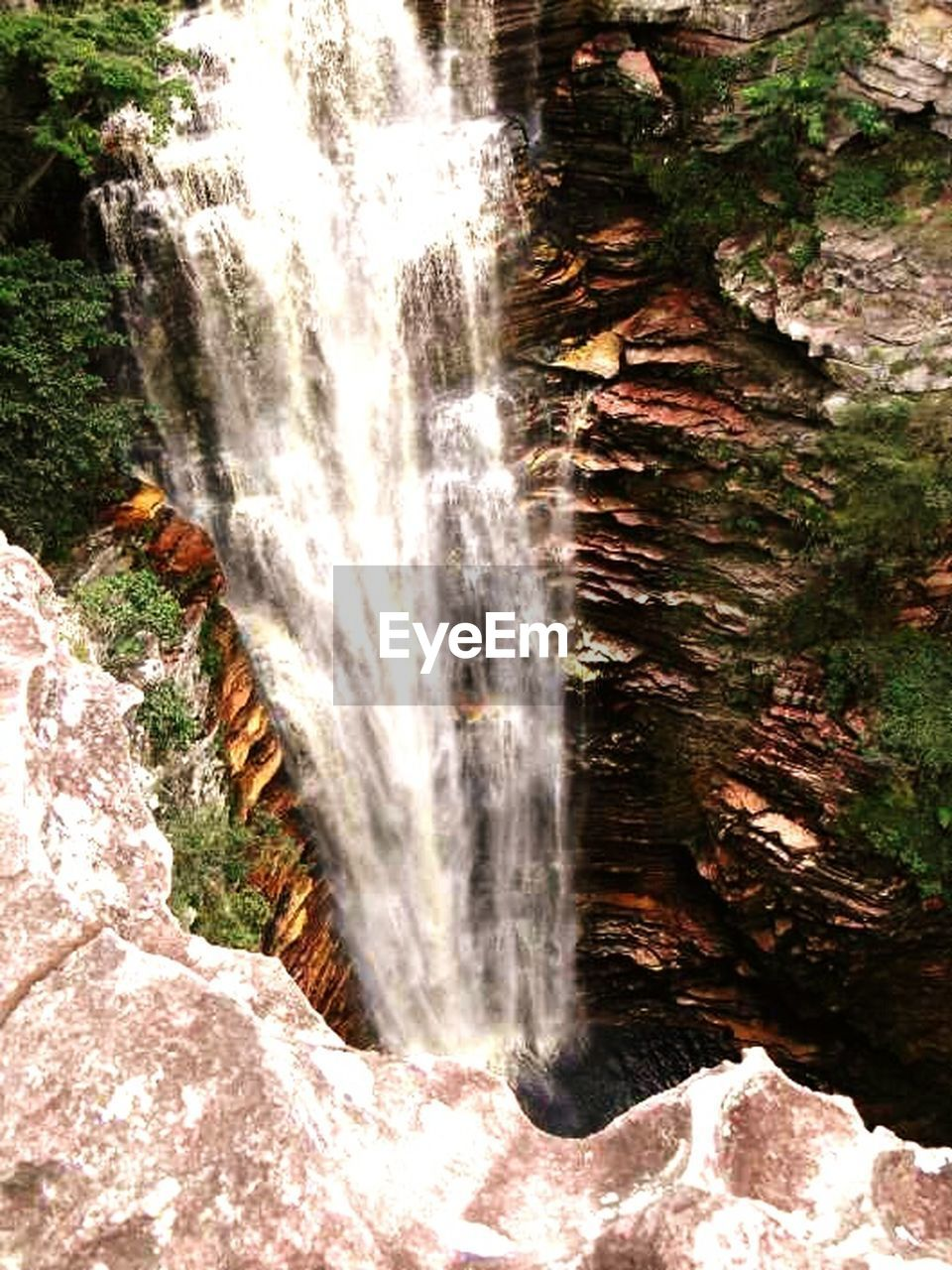 waterfall, motion, nature, long exposure, scenics, water, beauty in nature, no people, forest, outdoors, tree, day, cliff