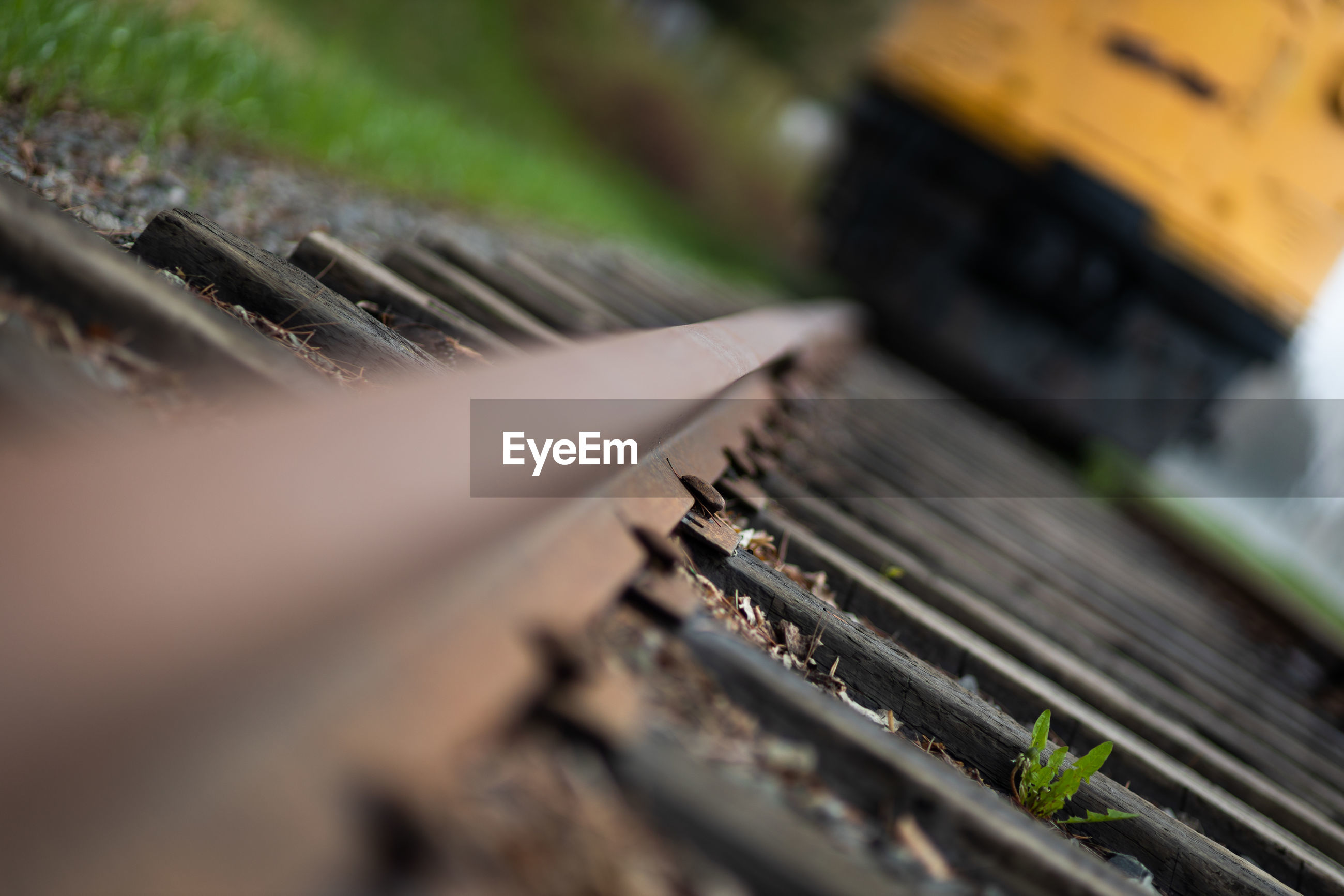 Angled train track