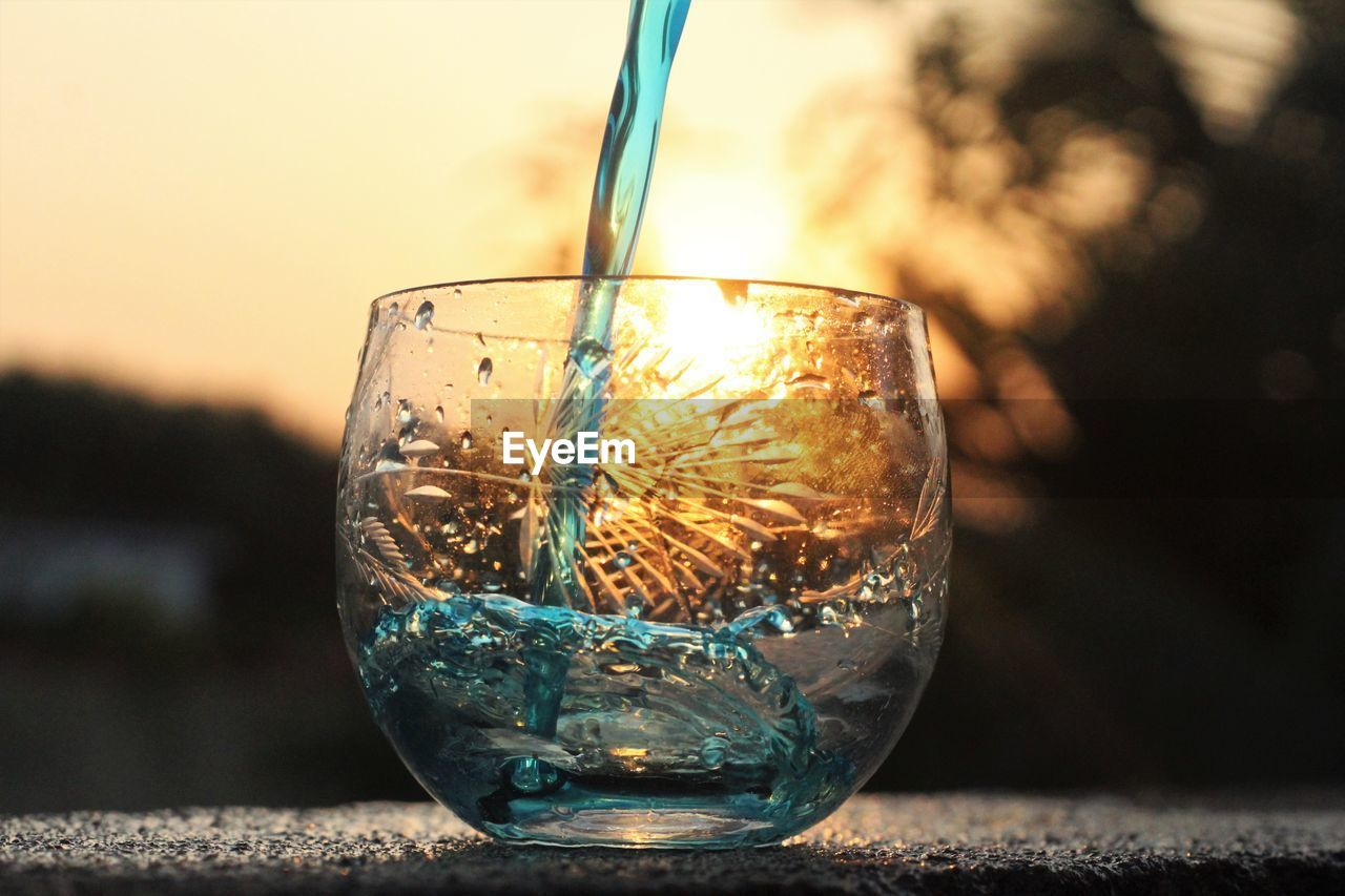 close-up, refreshment, drinking glass, drink, focus on foreground, no people, freshness, indoors, water, day