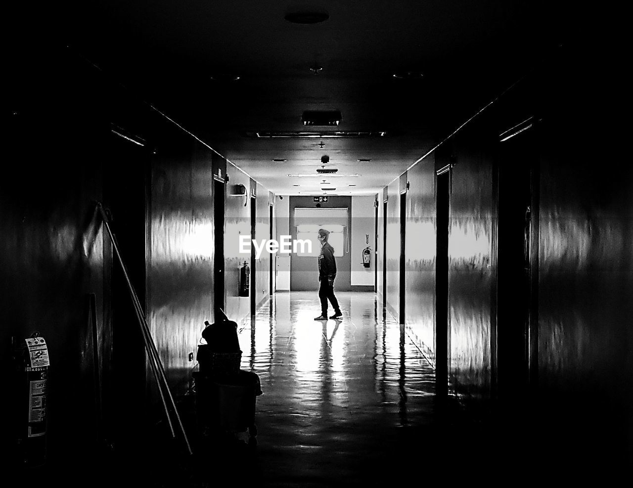 full length, real people, indoors, one person, walking, men, architecture, illuminated, day, people