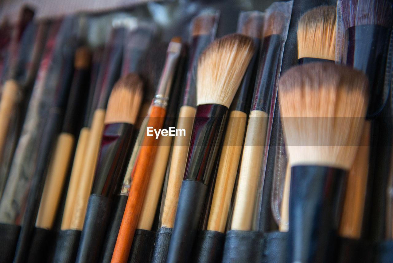 Close-Up Of  Make-Up Bruches