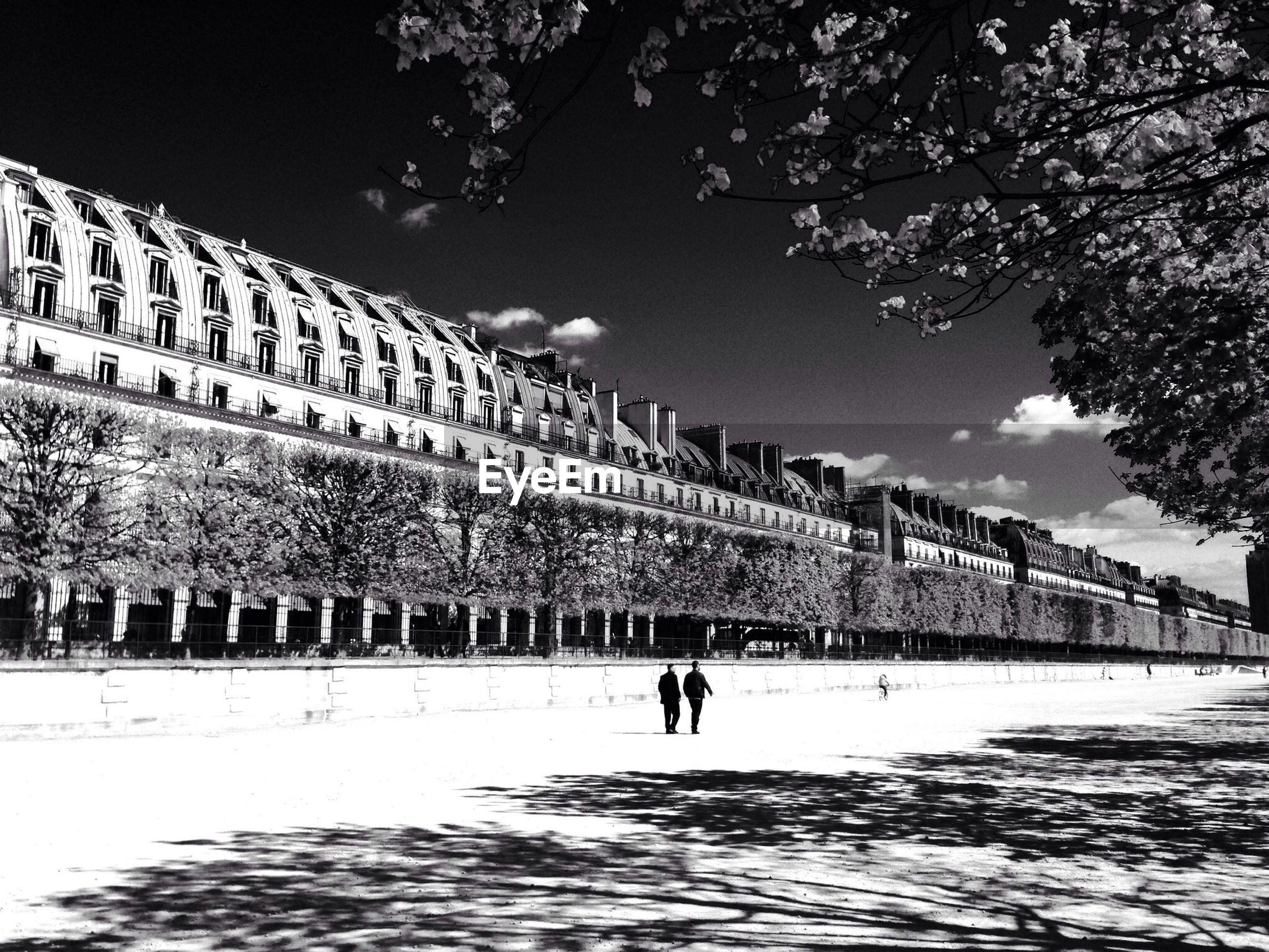 Facade of terrasse des feuillants against sky