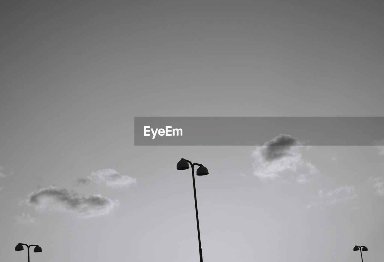 LOW ANGLE VIEW OF BIRD ON SKY