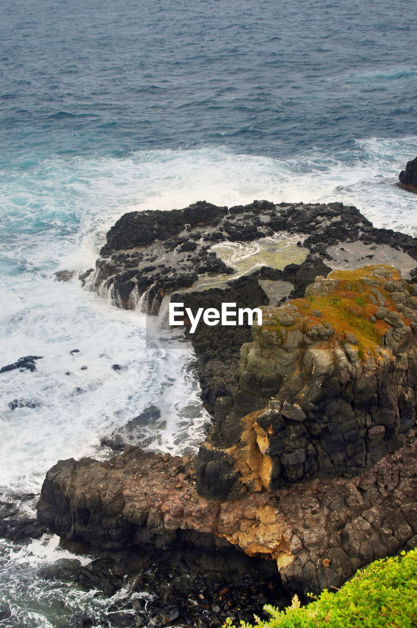 sea, nature, water, wave, rock - object, beauty in nature, no people, outdoors, scenics, day