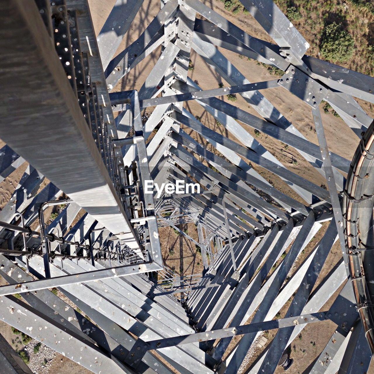 High Angle View Of Wind Turbine