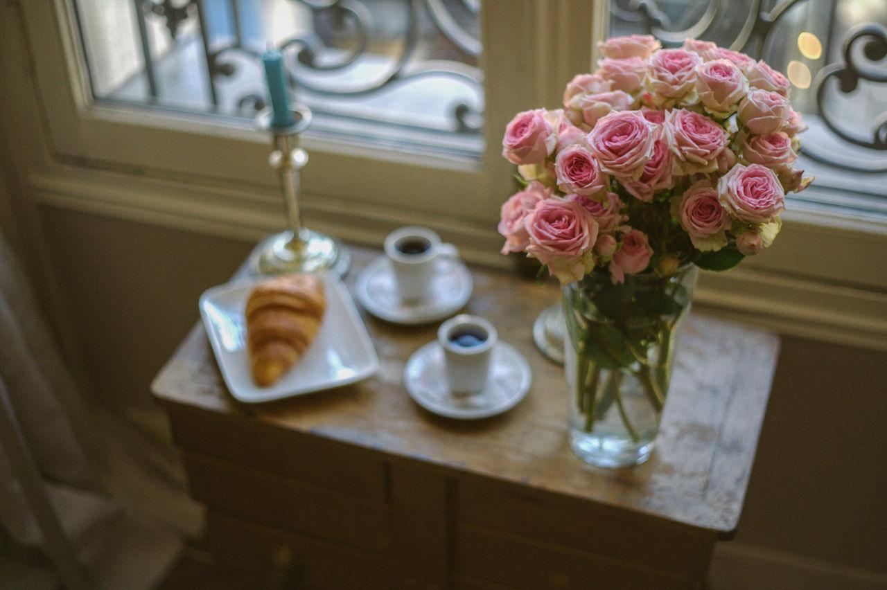 Close-Up Of Flower Vase Indoors