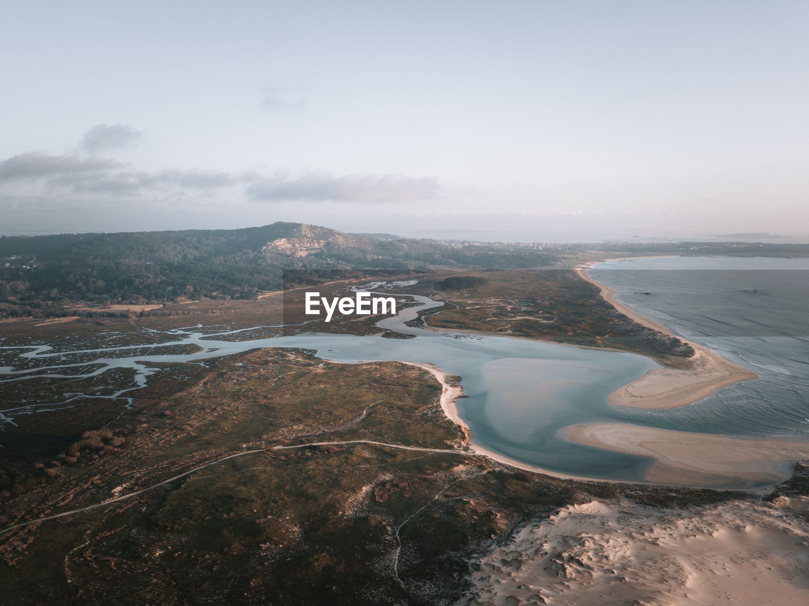 AERIAL VIEW OF BEACH AGAINST SKY