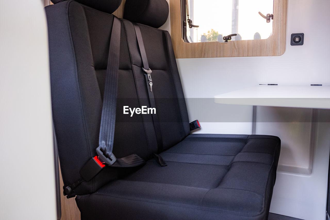 INTERIOR OF EMPTY SEAT