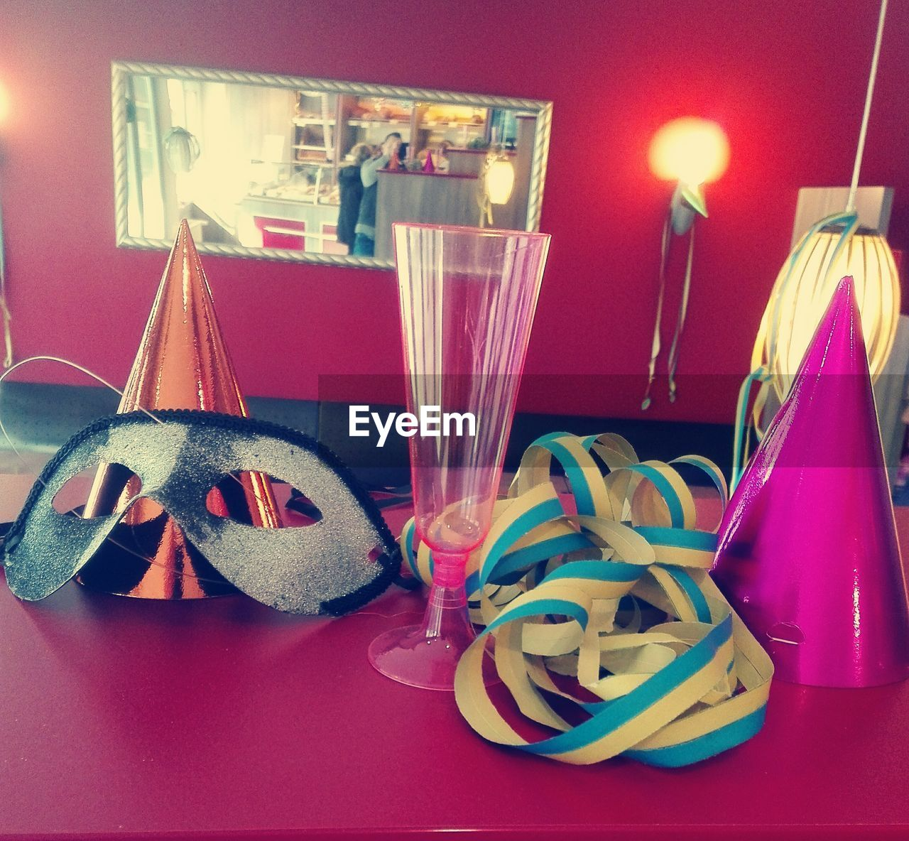celebration, indoors, illuminated, no people, christmas, table, home interior, ribbon - sewing item, night, ribbon, christmas decoration, close-up