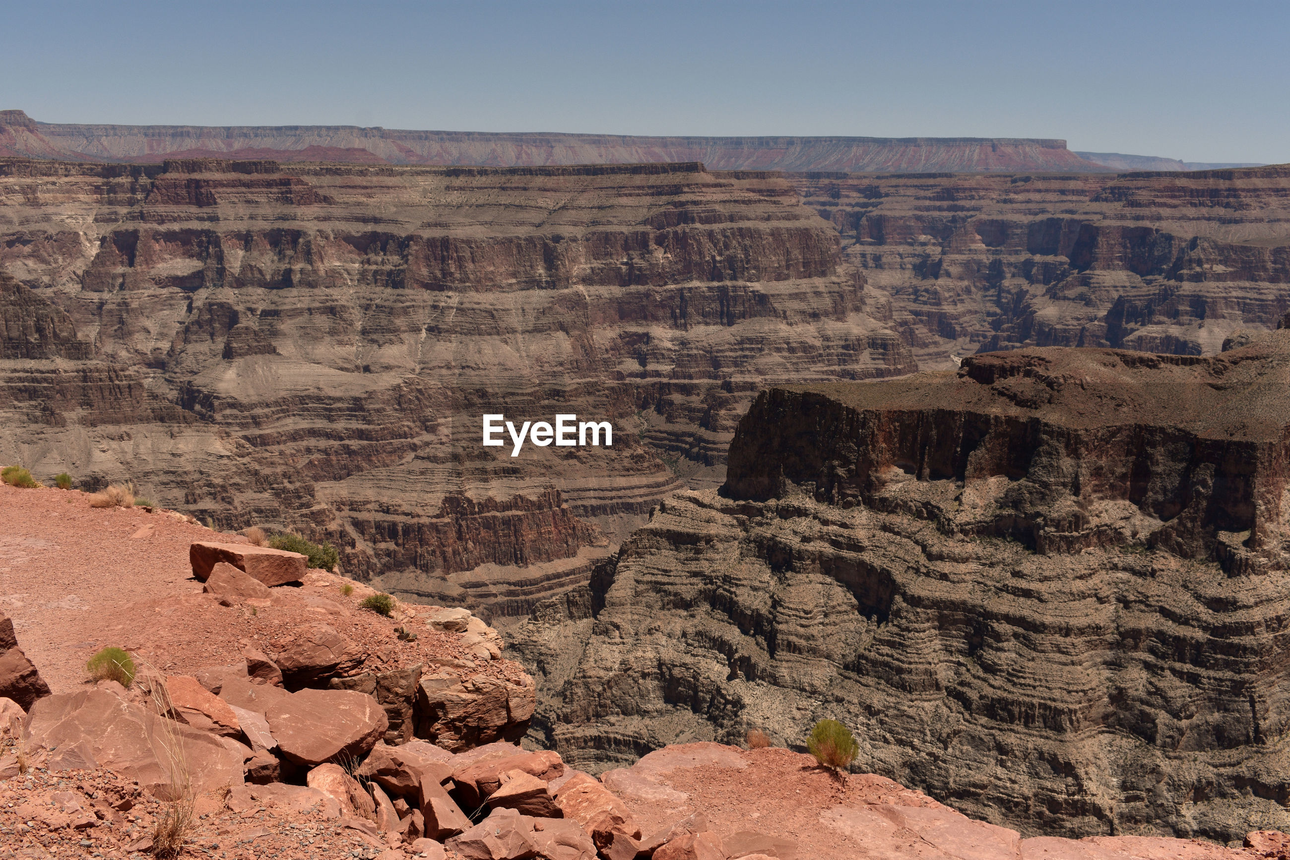 VIEW OF ROCK FORMATIONS IN A CANYON