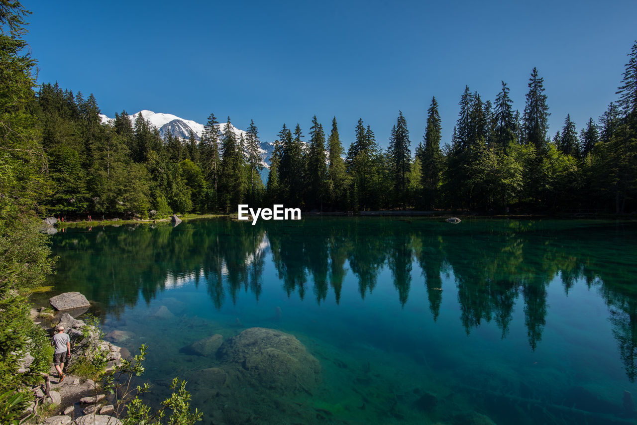 Scenic view of lac vert