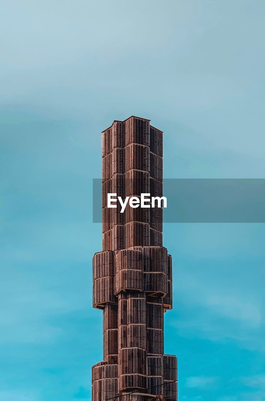 sky, architecture, built structure, no people, tall - high, low angle view, day, nature, building exterior, cloud - sky, skyscraper, tower, office building exterior, modern, outdoors, city, building, blue, travel destinations, pattern, turquoise colored