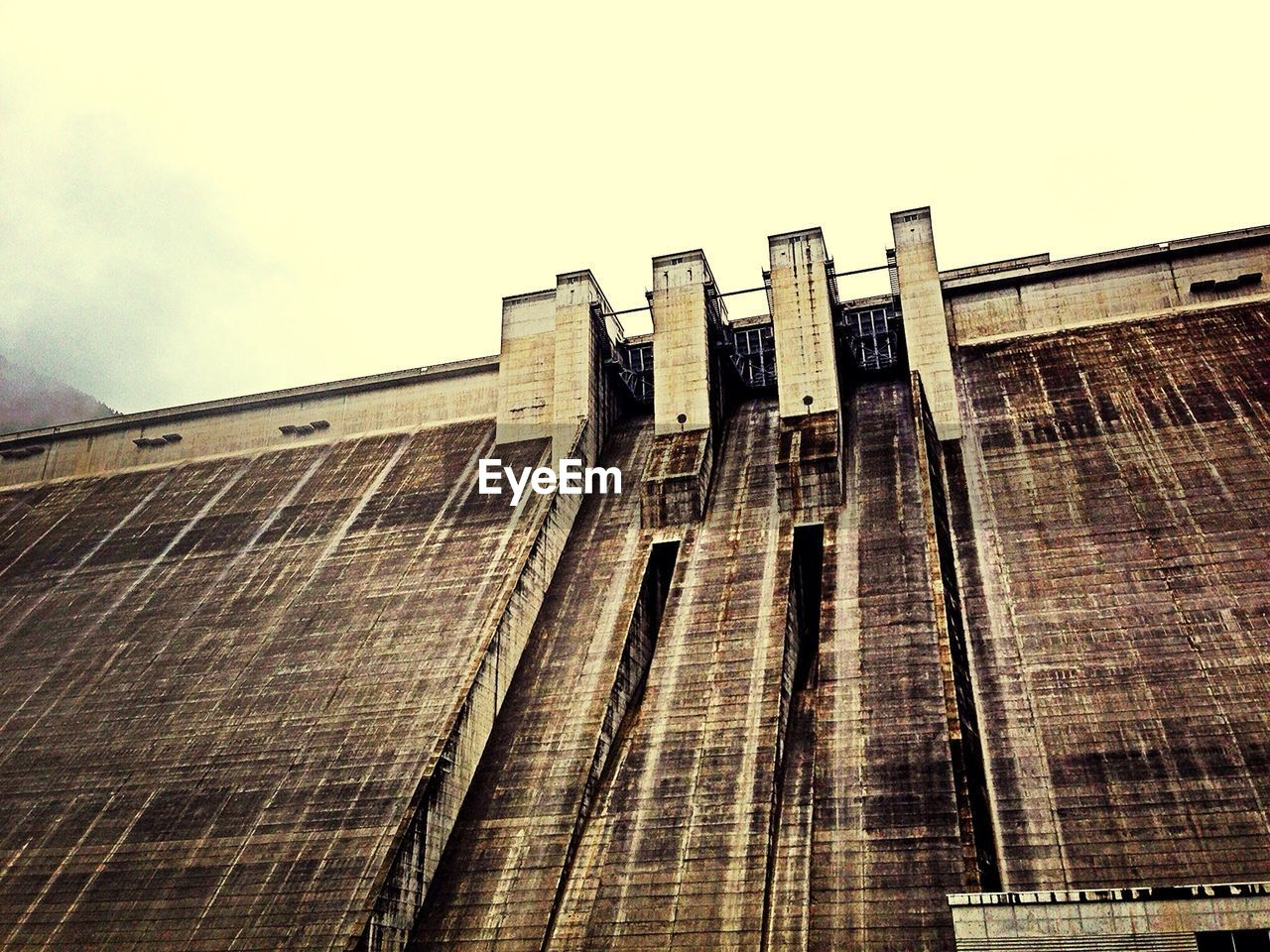 Low Angle View Of Dam