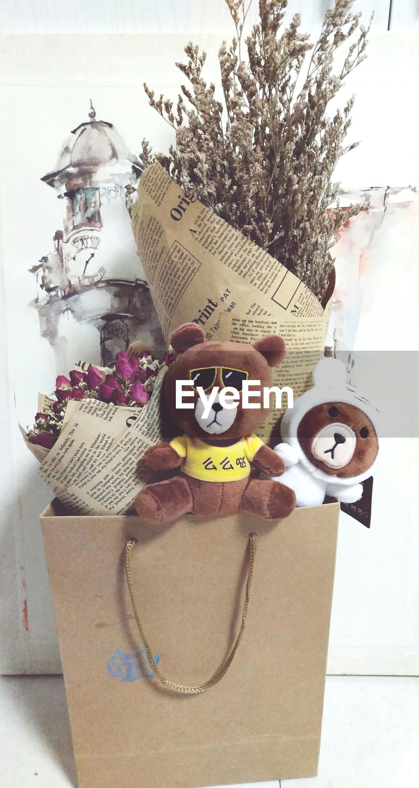 human representation, stuffed toy, no people, teddy bear, indoors, close-up, day