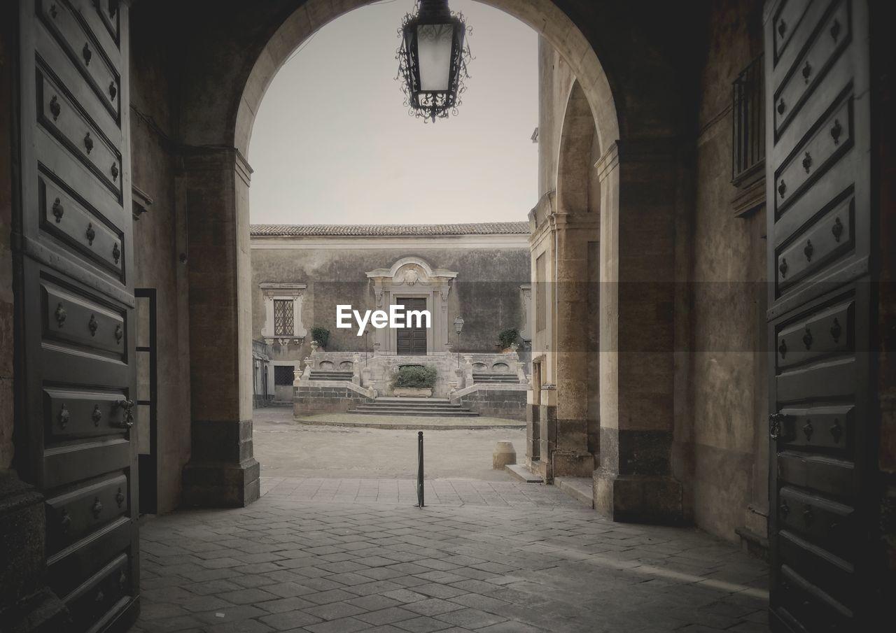 Entrance of historic building - palazzo biscari
