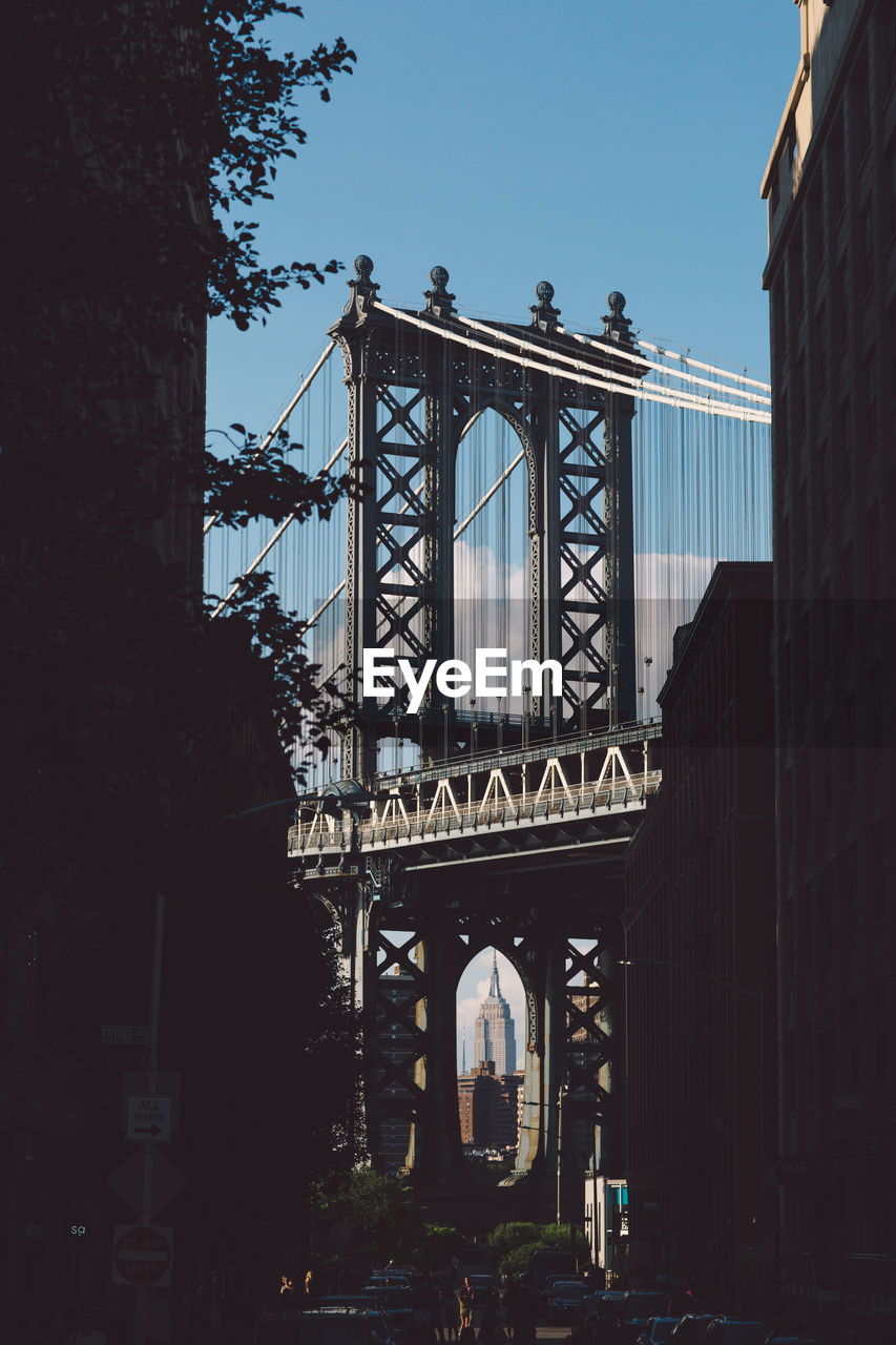 Low Angle View Of Manhattan Bridge Against Sky