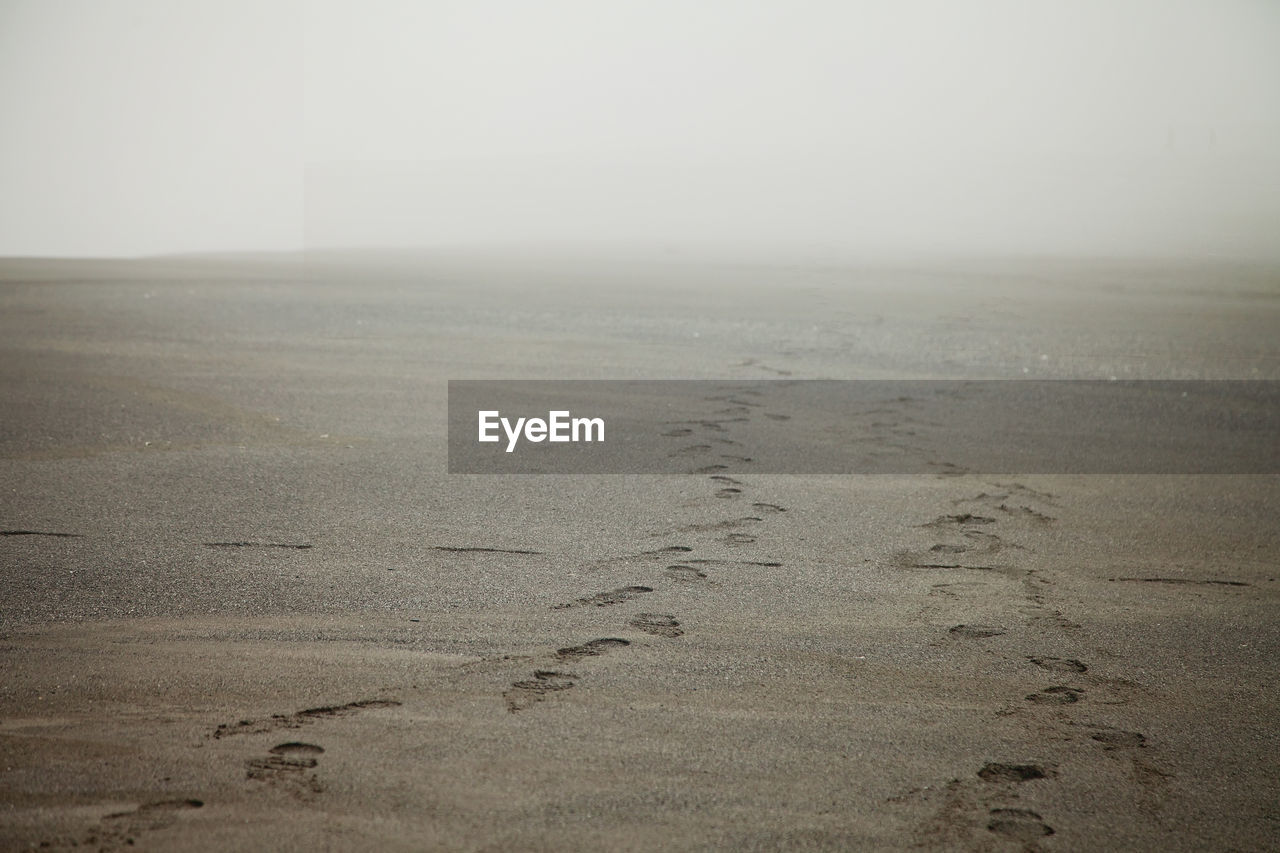 nature, tranquility, landscape, scenics, beauty in nature, outdoors, day, tranquil scene, no people, sky, fog, sand, beach