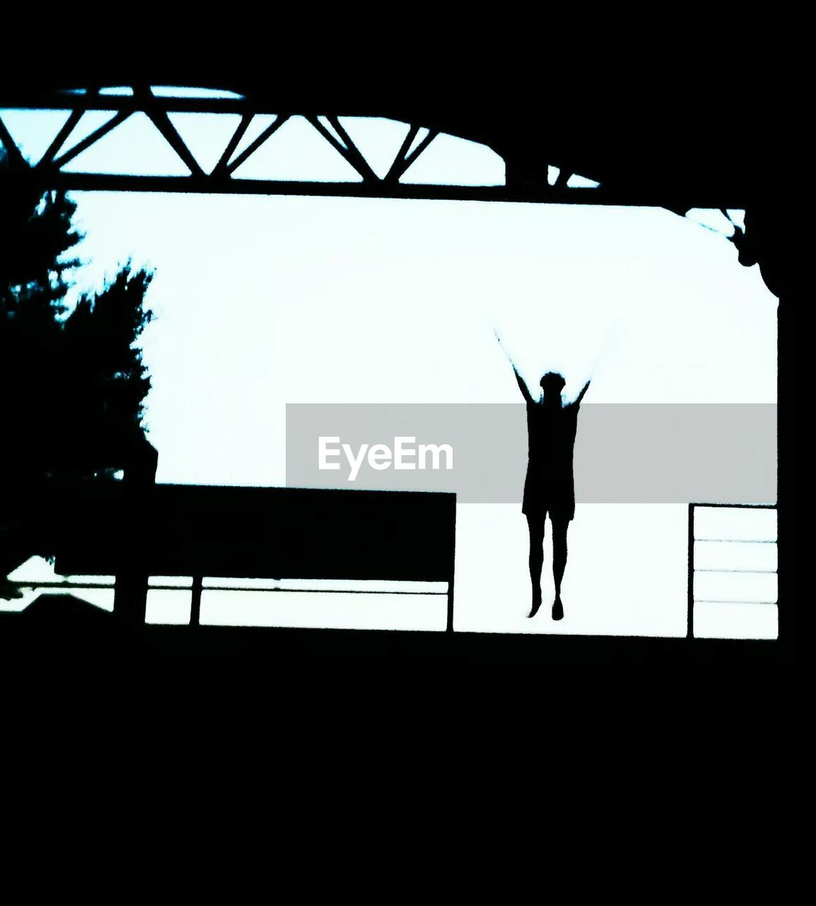 silhouette, real people, standing, men, one person, day, outdoors, adult, people