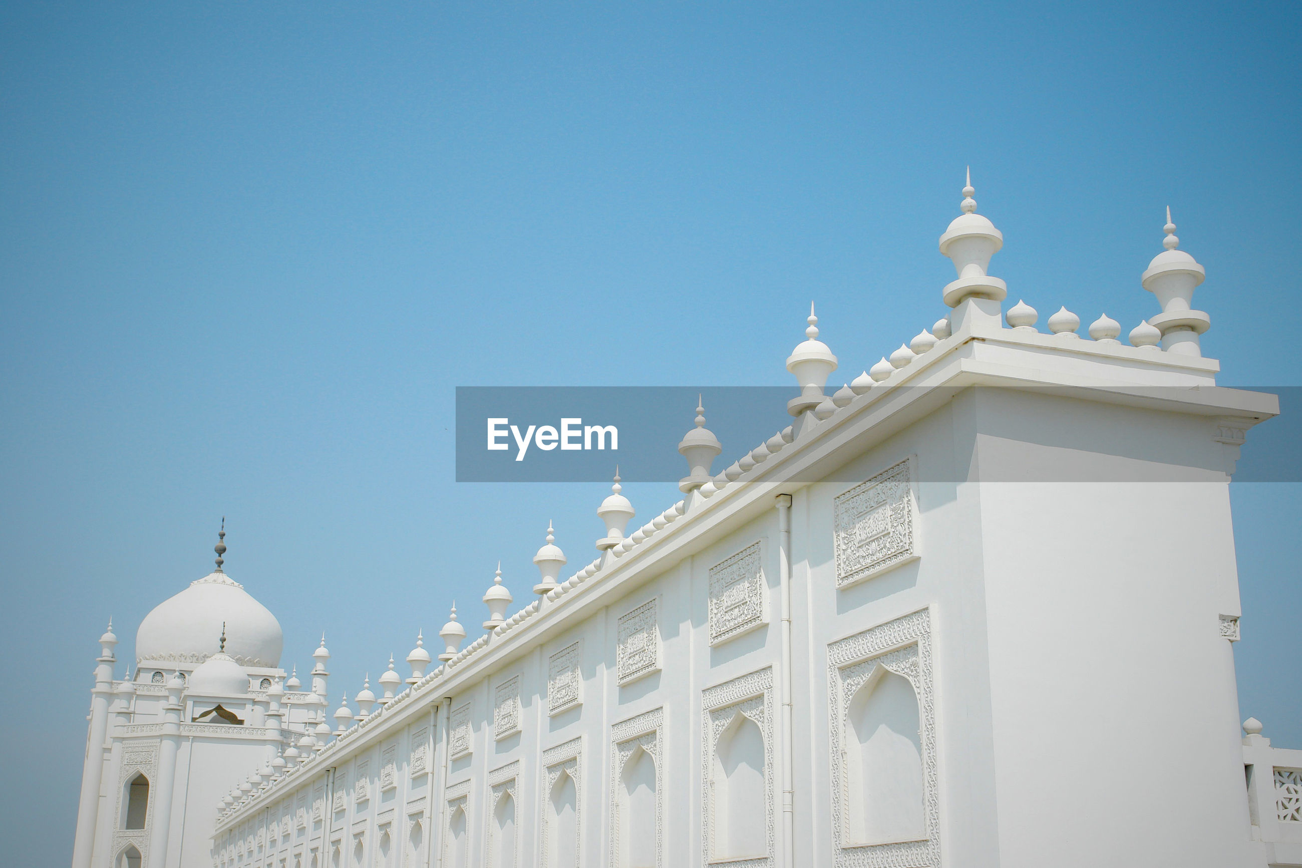 High section of hui mosque against clear sky