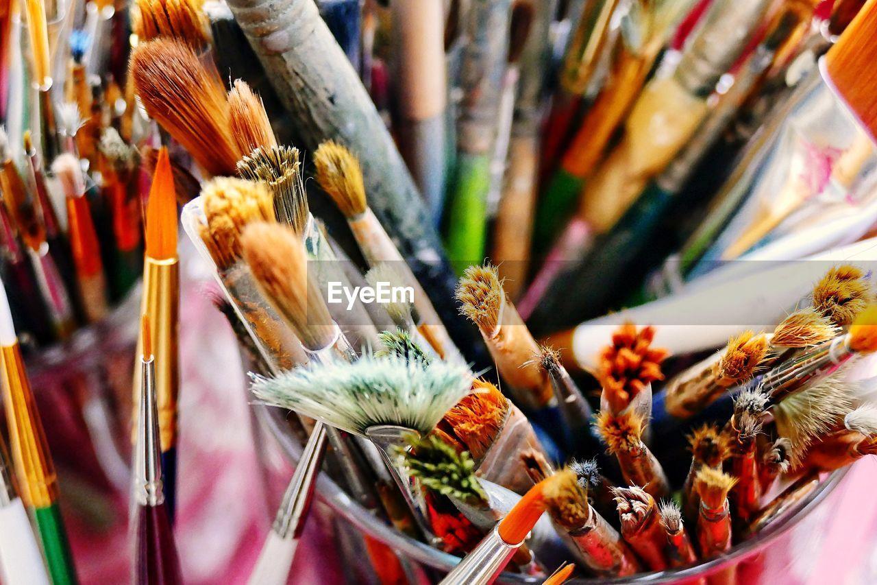 Close-Up Of Paintbrushes