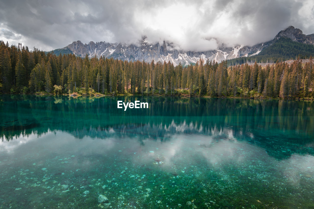 This lake is deep in the mountains