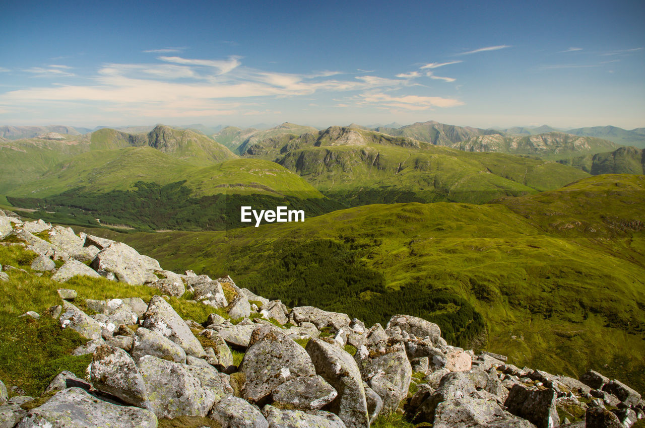 Scenic View Of Mountains At Scottish Highlands
