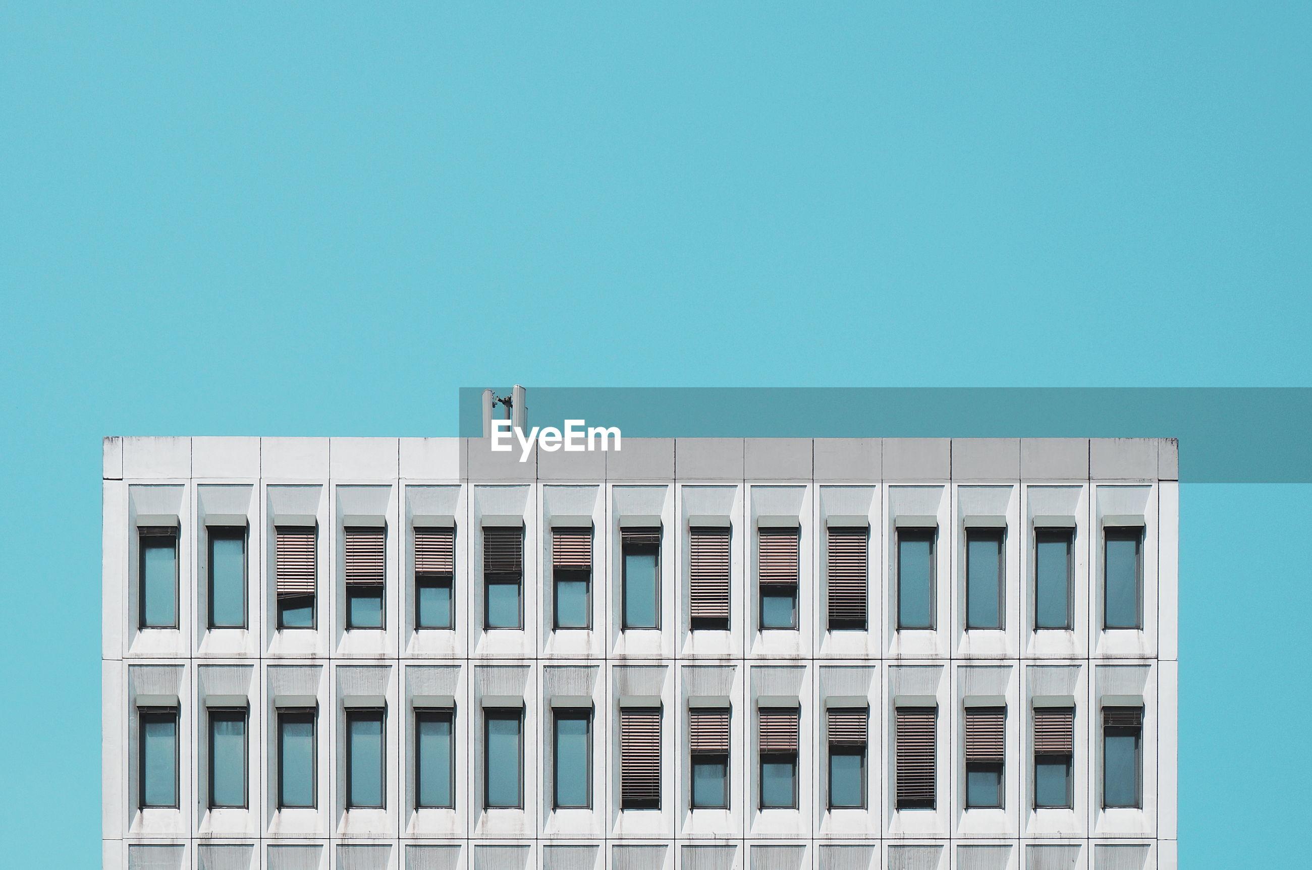 Building against clear sky