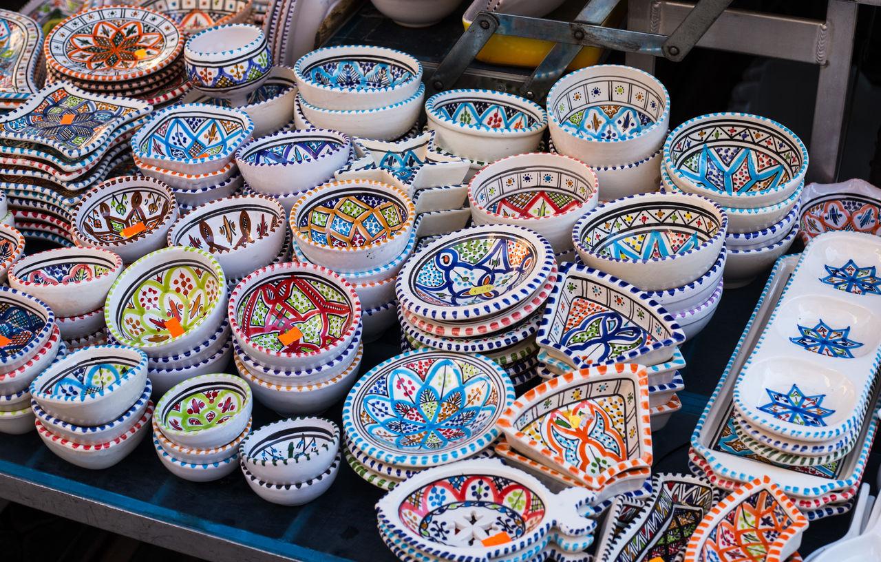 Multi Colored Kitchen Utensils At Market For Sale