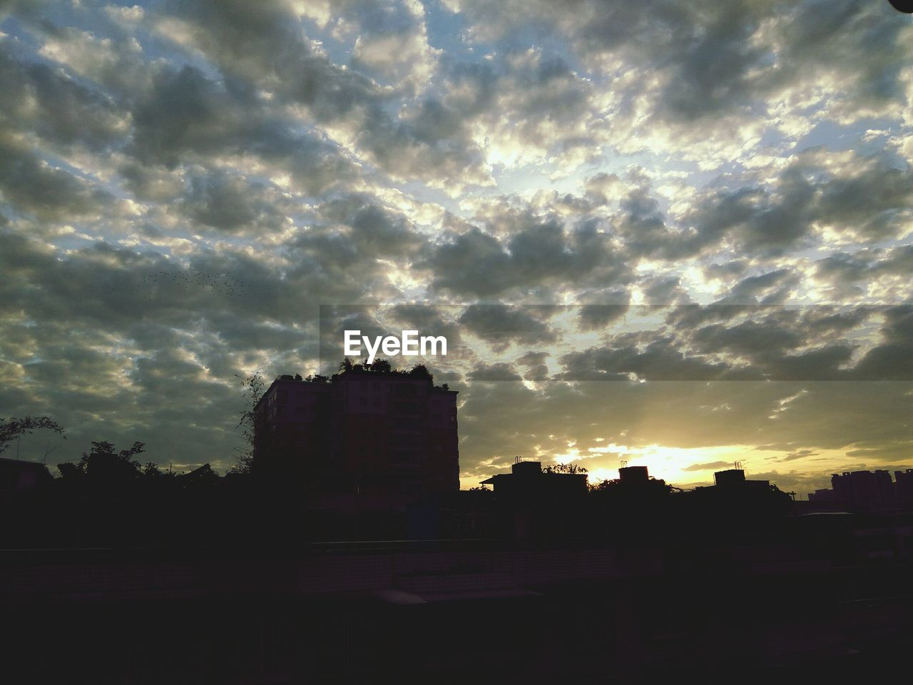 sky, sunset, architecture, silhouette, cloud - sky, built structure, building exterior, no people, sunlight, nature, outdoors, city, cityscape, day