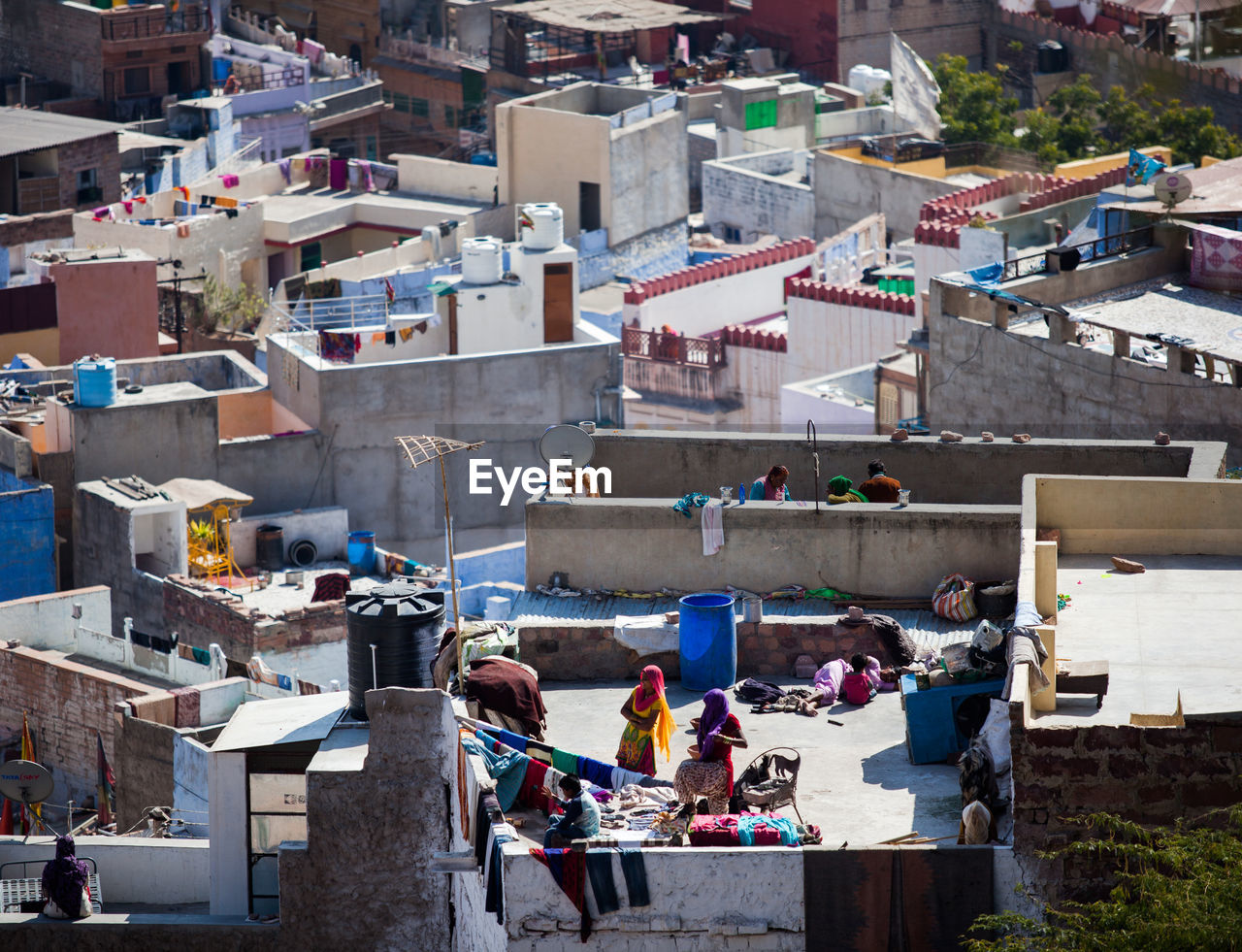 High Angle View Of Rooftops