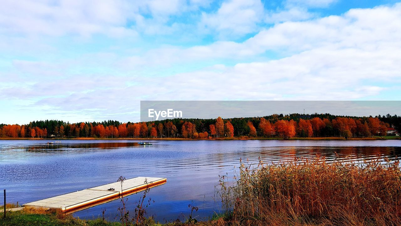 water, sky, cloud - sky, lake, plant, beauty in nature, tranquility, tranquil scene, scenics - nature, tree, nature, no people, day, non-urban scene, reflection, nautical vessel, outdoors, idyllic