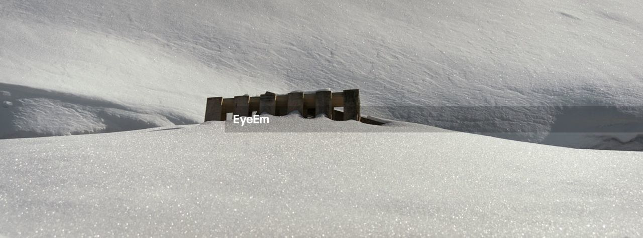 Wooden Structure Buried In Snow