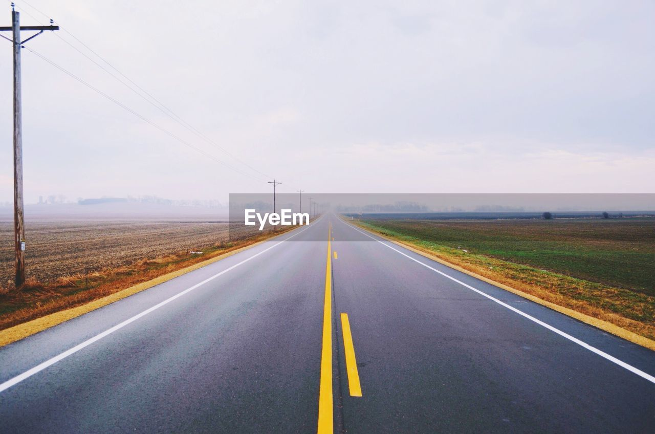 Empty Road Against S