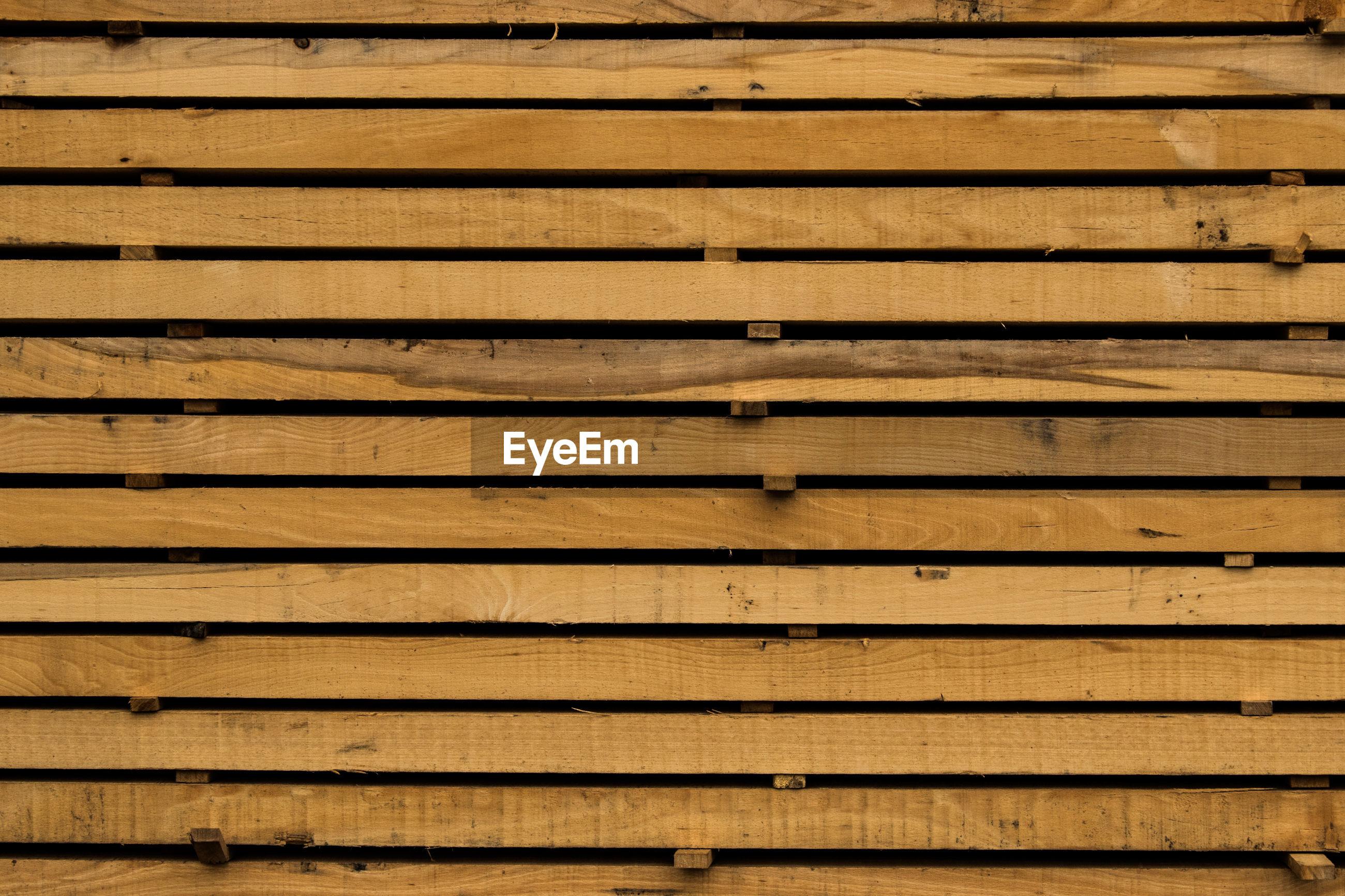 Full frame shot of wooden paneling
