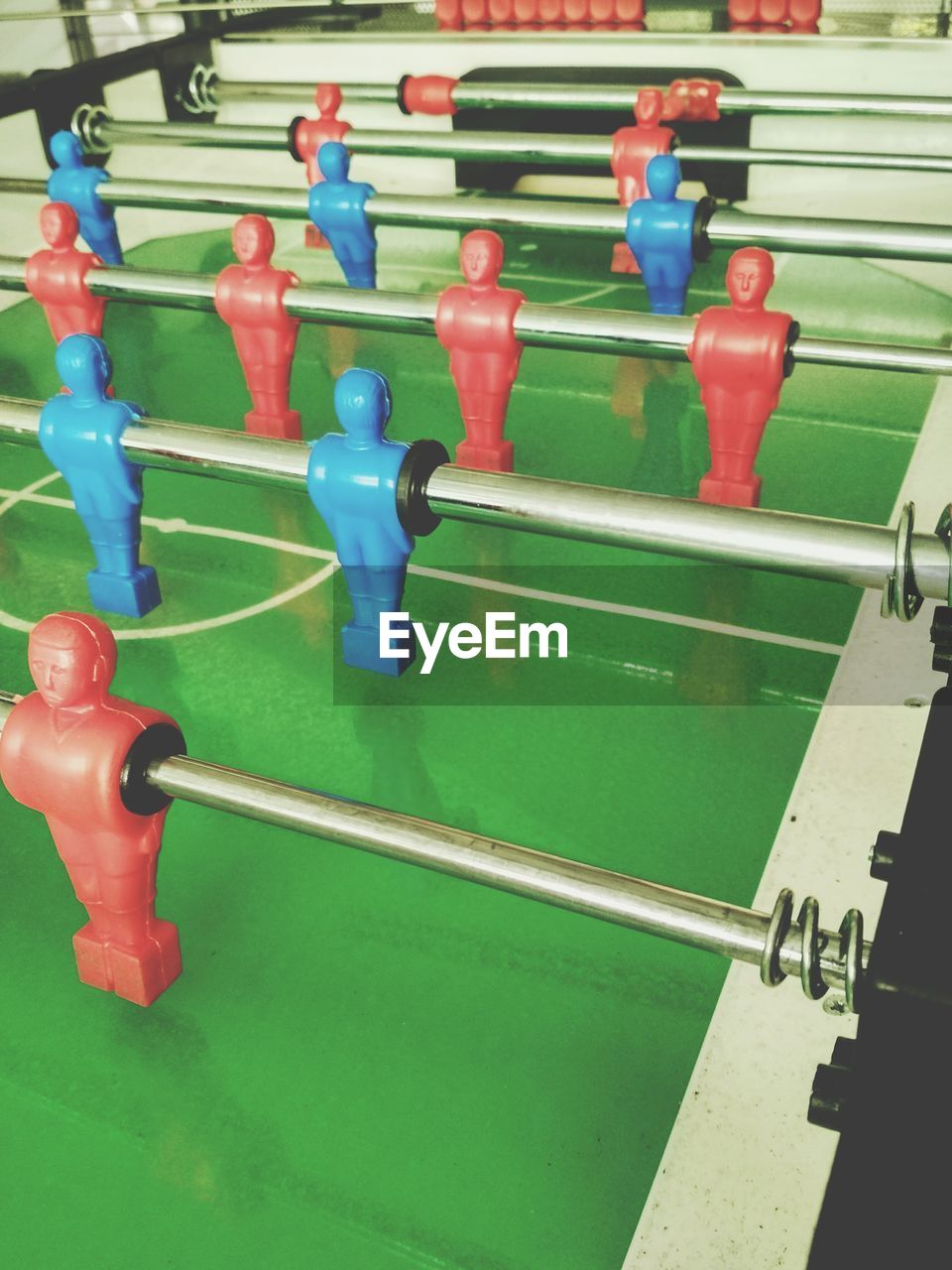teamwork, leisure activity, football, sport, model, in a row, competition, green color, soccer, leisure games, challenge, figurine, playing, activity, cooperation, togetherness, sports team, day, outdoors, people