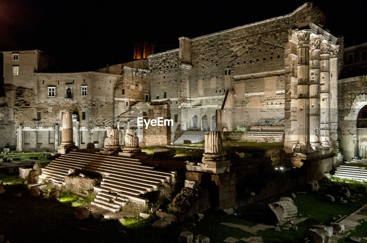 architecture, built structure, building exterior, night, history, no people, outdoors, ancient, ancient civilization, city