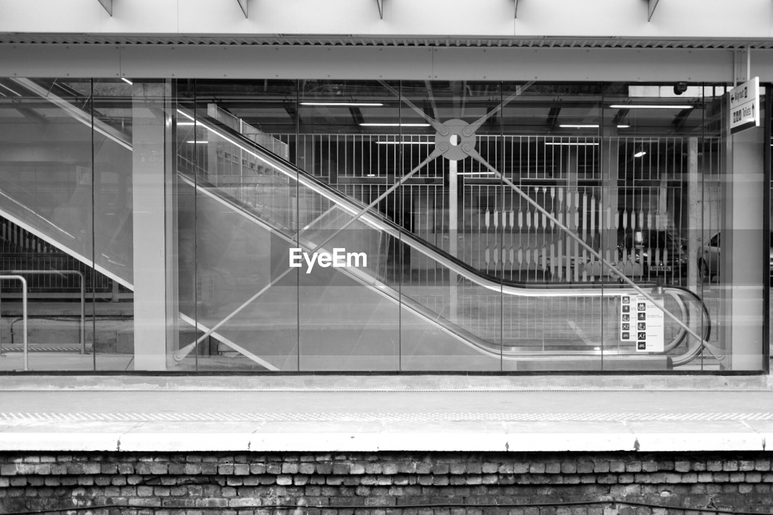 Escalator at haymarket railway station