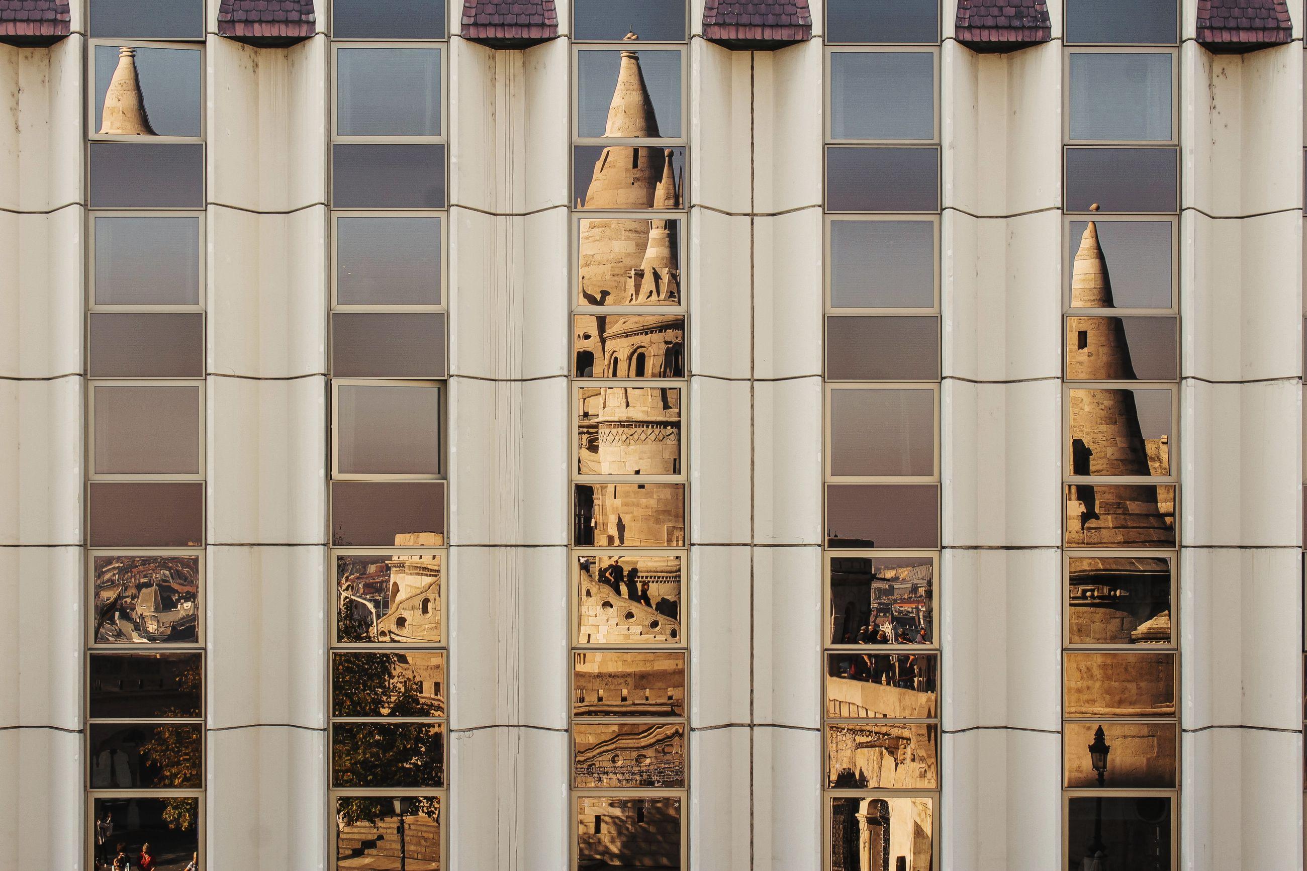Full frame shot of building reflection