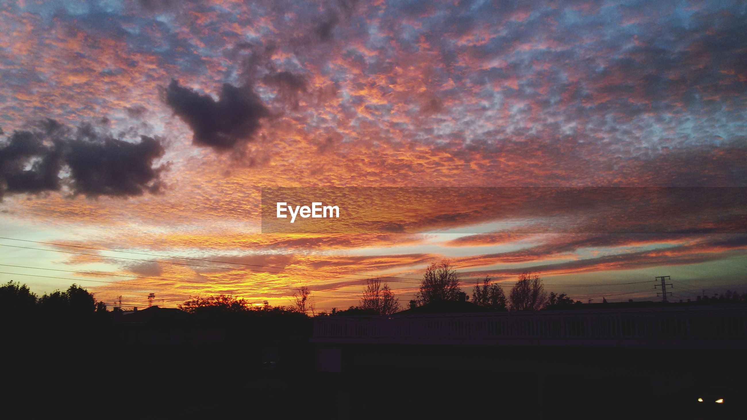 sunset, silhouette, sky, orange color, beauty in nature, tree, scenics, cloud - sky, nature, built structure, tranquility, tranquil scene, low angle view, architecture, building exterior, dark, dramatic sky, idyllic, outdoors, dusk