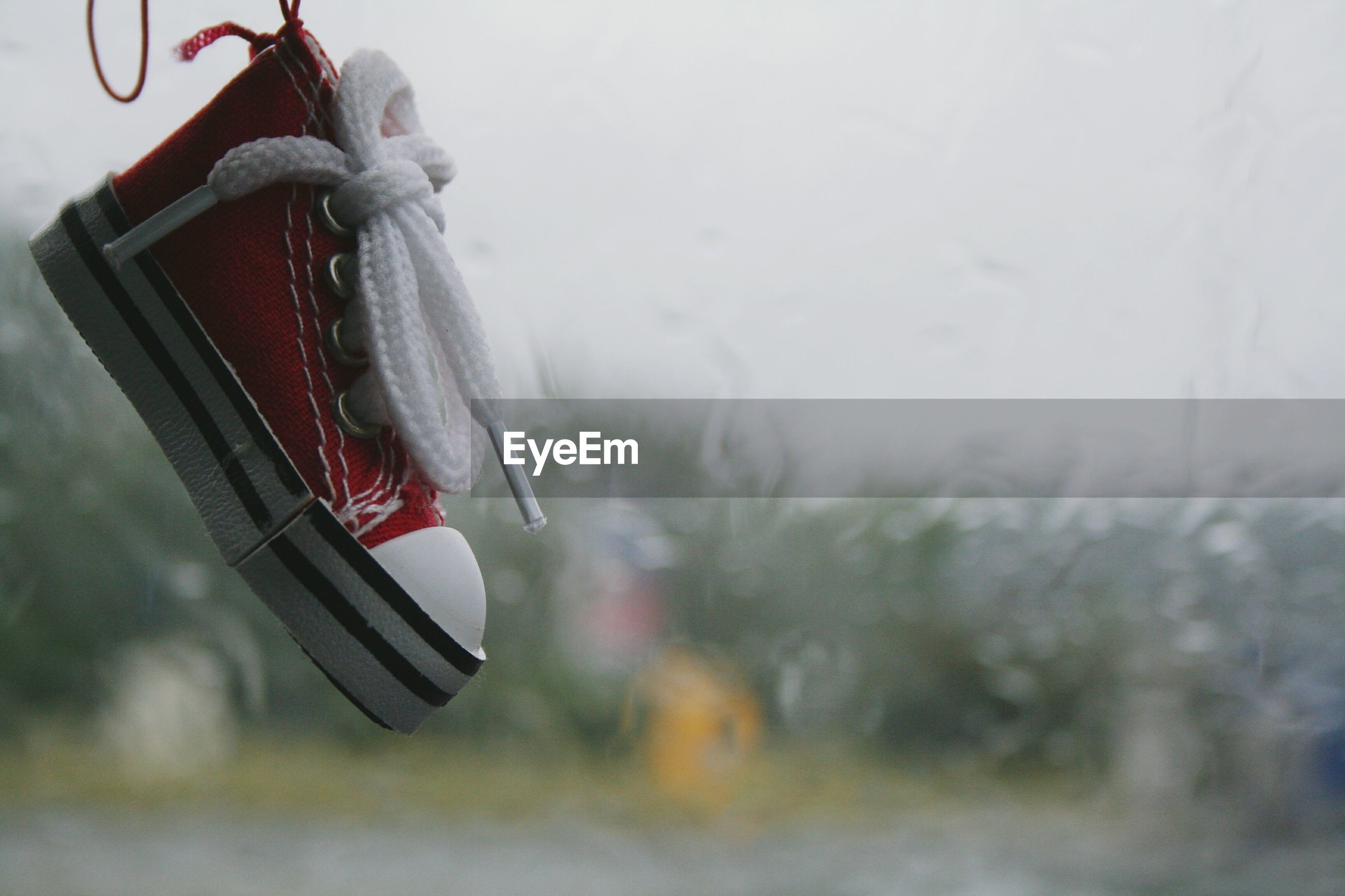 Close-up of red shoe