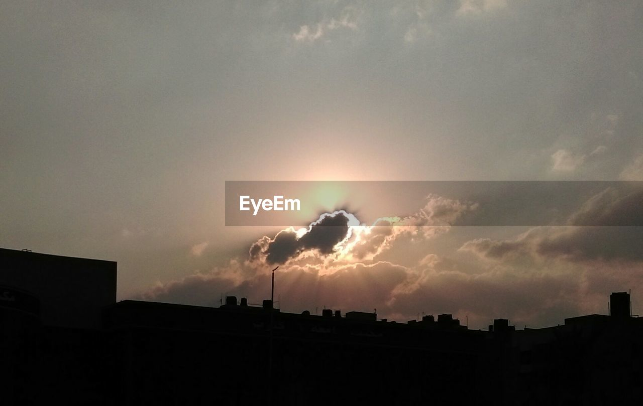 sunset, sky, cloud - sky, silhouette, built structure, architecture, building exterior, no people, outdoors, nature, city, day