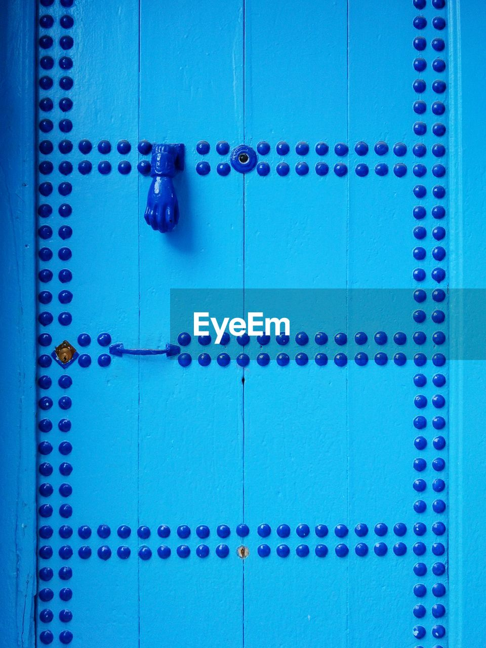 Full Frame Shot Of Closed Blue Door