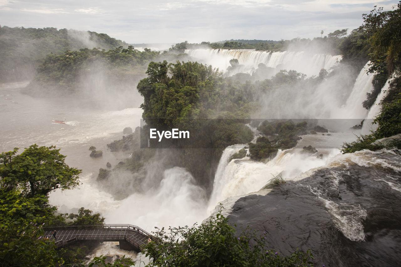 Scenic view of iguazu waterfall