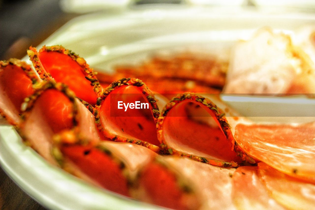 food and drink, food, indoors, freshness, no people, healthy eating, close-up, seafood, ready-to-eat, plate, red, day