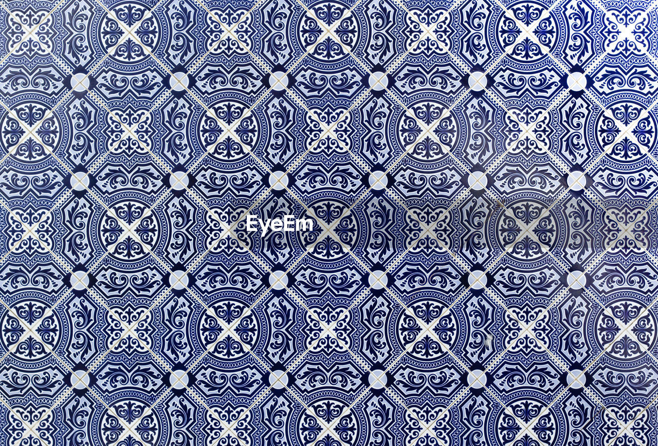 pattern, backgrounds, design, floral pattern, full frame, blue, seamless pattern, close-up, indoors, no people, day
