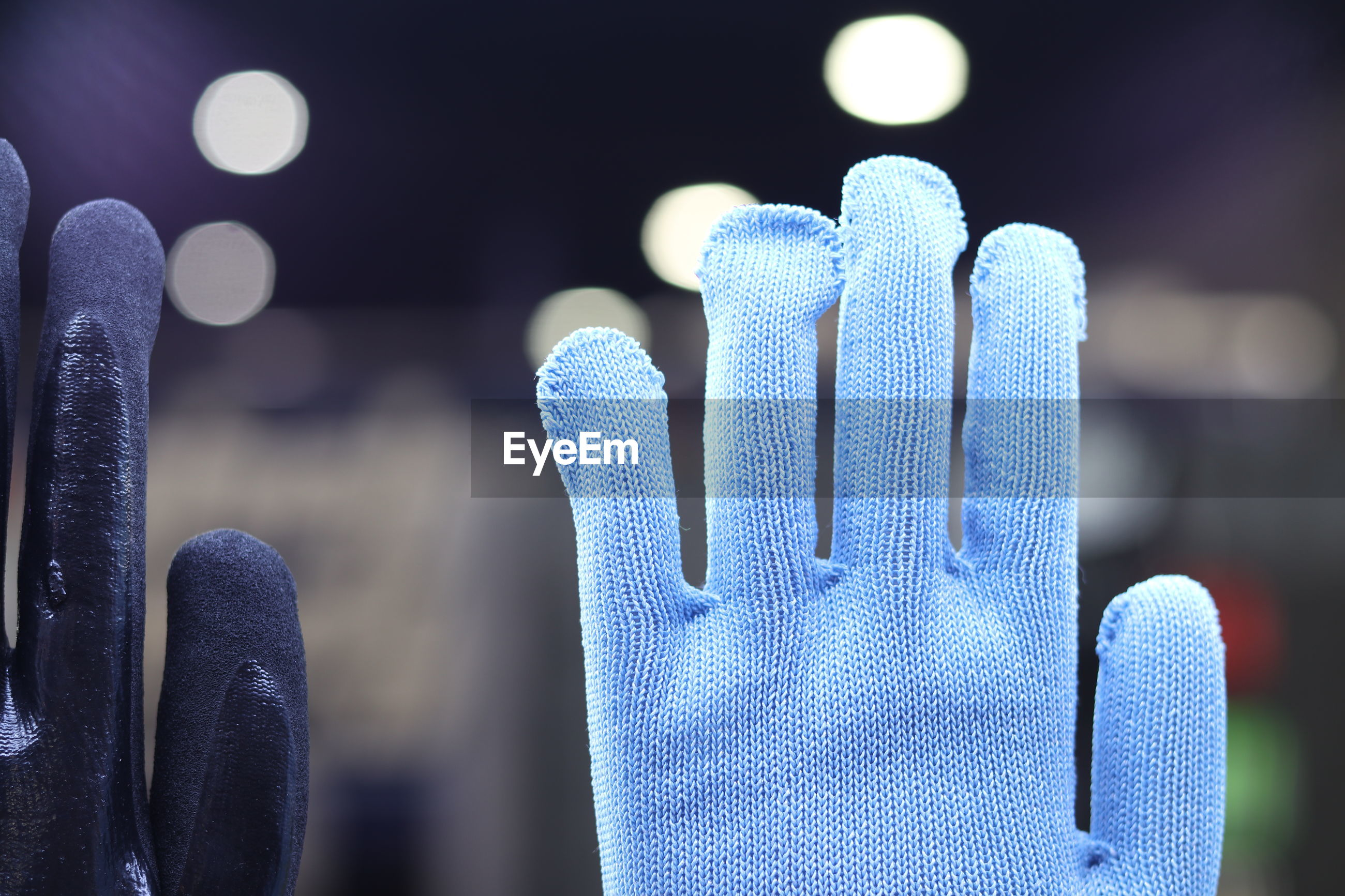 Close-up of gloves