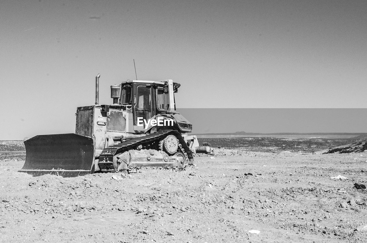 Bulldozer On Field