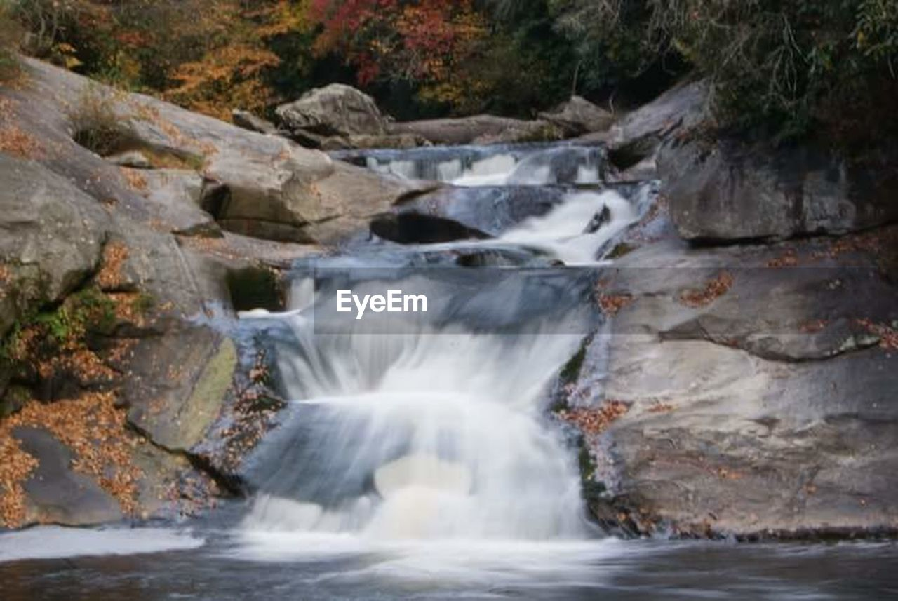 waterfall, rock - object, no people, water, river, scenics, nature, rapid, beauty in nature, outdoors, motion, day, power in nature