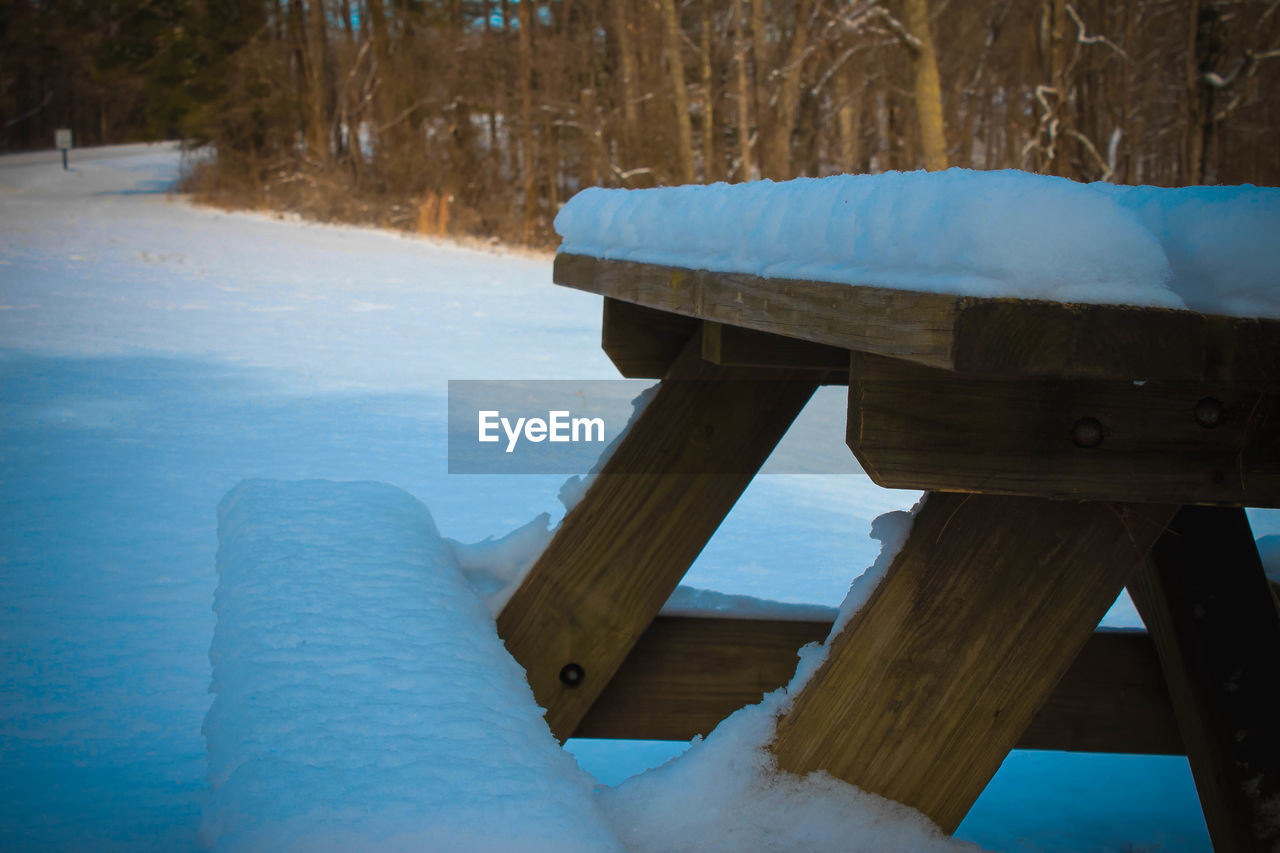 wood - material, winter, cold temperature, nature, water, snow, pier, scenics, no people, tranquility, outdoors, day, tranquil scene, beauty in nature, frozen, sea, close-up, sky