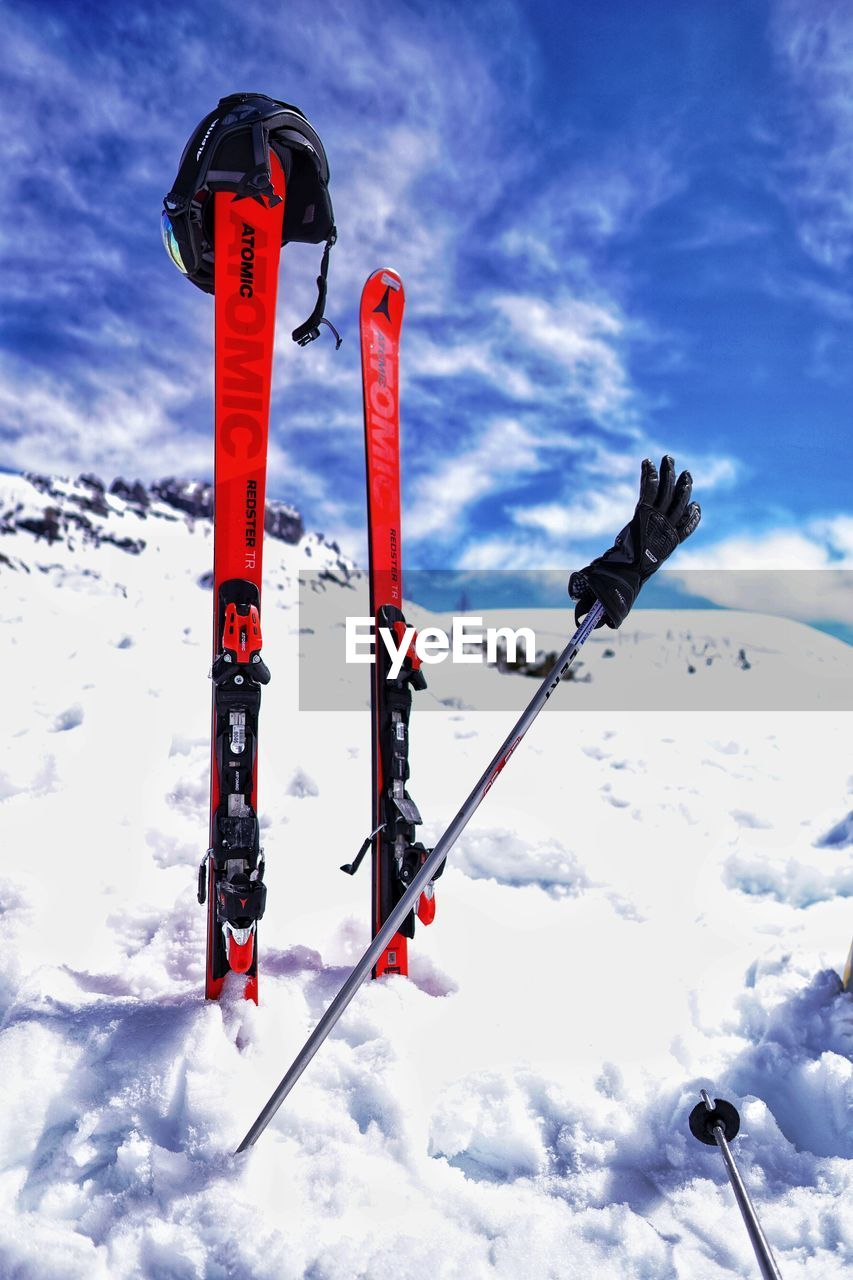 winter, snow, cold temperature, sky, nature, cloud - sky, no people, beauty in nature, day, outdoors, mountain, low angle view, covering, scenics - nature, white color, tranquility, sunlight, environment, non-urban scene, snowcapped mountain